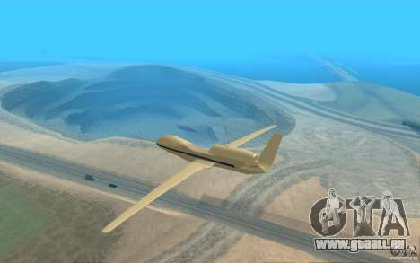 Grumman RQ-4 für GTA San Andreas zurück linke Ansicht