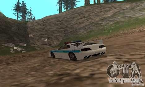 Jester Russian Police pour GTA San Andreas sur la vue arrière gauche
