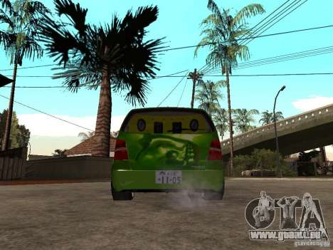Volkswagen Touran The Hulk pour GTA San Andreas sur la vue arrière gauche