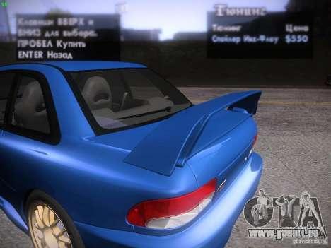Subaru Impreza 22b Tunable für GTA San Andreas Motor