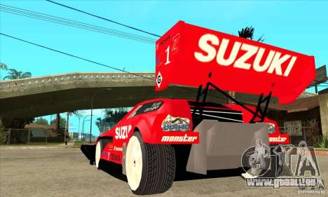 Suzuki Escudo Pikes Peak V2.0 pour GTA San Andreas sur la vue arrière gauche