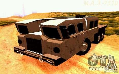 MAZ-7310 civile Version étroite pour GTA San Andreas