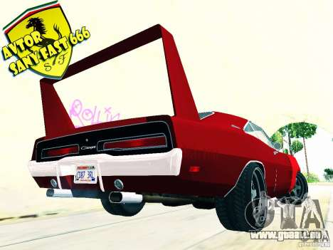 Dodge Charger Daytona Forsazh 6 für GTA San Andreas linke Ansicht