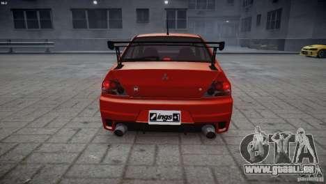 Mitsubishi Lancer Evolution 8 v2.0 pour GTA 4 Vue arrière de la gauche