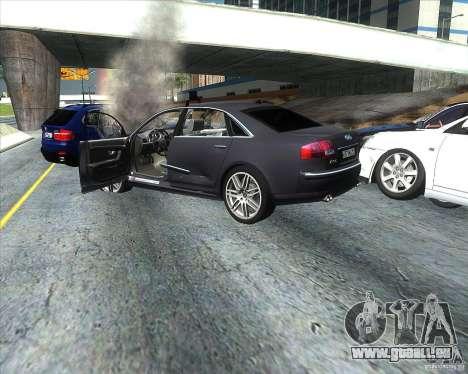 Audi A8L W12 für GTA San Andreas Rückansicht