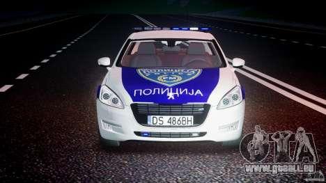 Peugeot 508 Macedonian Police [ELS] für GTA 4 Unteransicht