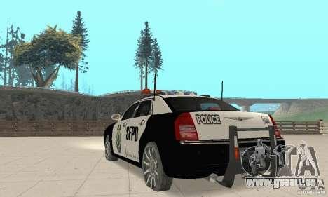 Chrysler 300C Police v2.0 pour GTA San Andreas sur la vue arrière gauche