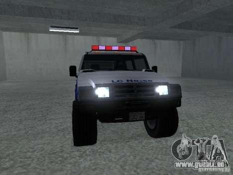 Noeud coulant Patriot de GTA 4 pour GTA San Andreas sur la vue arrière gauche