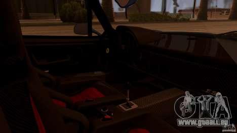 Ferrari F50 Coupe v1.0.2 für GTA San Andreas Rückansicht