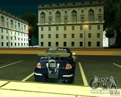 Nissan Sentra pour GTA San Andreas sur la vue arrière gauche