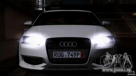 Audi S3 Euro pour GTA San Andreas vue intérieure