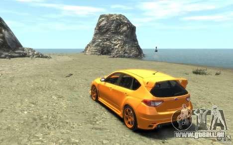 Subaru Impreza WRX STI Hatchback 2008 v.2.0 pour GTA 4 Vue arrière de la gauche