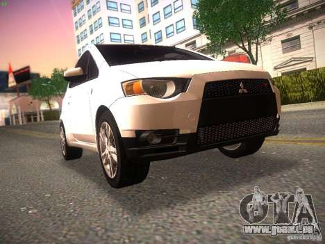 Mitsubishi Colt Rallyart pour GTA San Andreas laissé vue