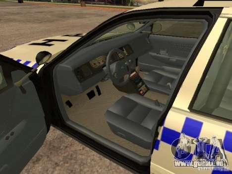 Ford Crown Victoria NSW Police für GTA San Andreas zurück linke Ansicht