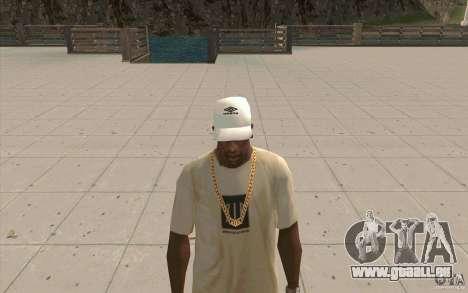 Umbro Cap white pour GTA San Andreas deuxième écran