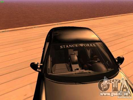 Infiniti G35 V.I.P pour GTA San Andreas vue intérieure