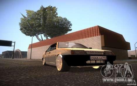 VAZ 21099 LifeStyle Tuning pour GTA San Andreas sur la vue arrière gauche