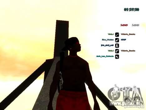 Sac à dos-parachute pour GTA: SA pour GTA San Andreas quatrième écran