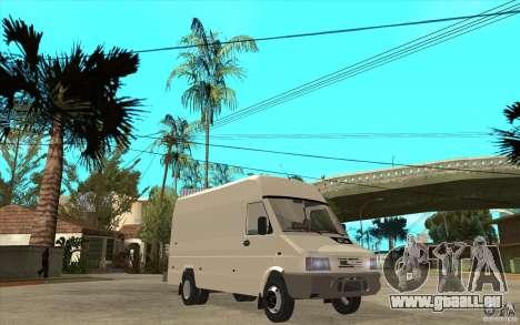 Iveco Turbo Daily für GTA San Andreas Rückansicht
