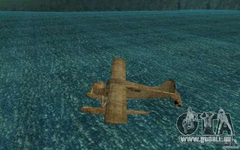 De Havilliand Beaver DHC2 für GTA San Andreas zurück linke Ansicht