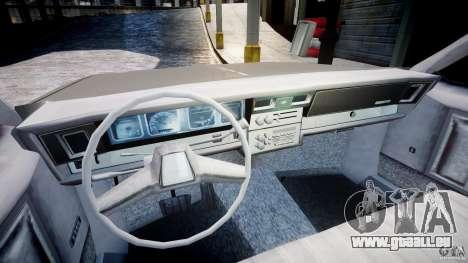 Chevrolet Impala 1983 pour GTA 4 Vue arrière