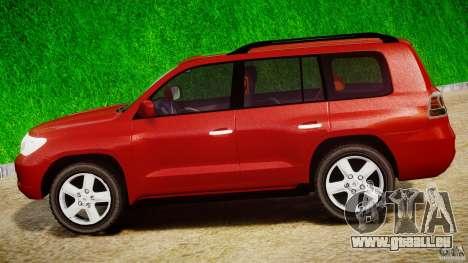 Toyota Land Cruiser 200 2007 pour GTA 4 est une vue de l'intérieur