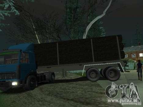 Remorque bois pour tracteur pour GTA San Andreas laissé vue