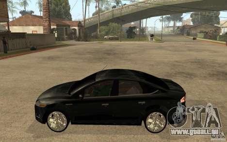 Ford Mondeo 2009 pour GTA San Andreas laissé vue