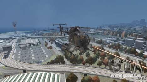 New AH-6 Little Bird pour GTA 4 Vue arrière