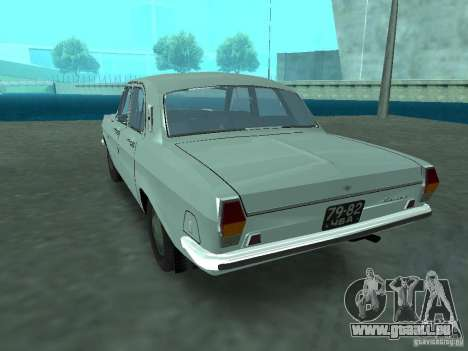 GAZ 24p pour GTA San Andreas sur la vue arrière gauche