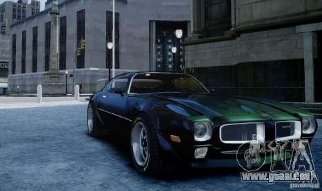 Pontiac Firebird 1971 pour GTA 4 Vue arrière de la gauche