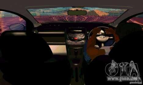 Toyota Aygo V1.0 pour GTA San Andreas vue de dessus