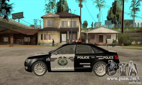 Audi A6 Police pour GTA San Andreas laissé vue