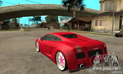 Lamborghini Gallardo White & Pink für GTA San Andreas zurück linke Ansicht