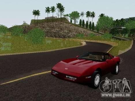 Chevrolet Corvette C4 1984 pour GTA San Andreas sur la vue arrière gauche