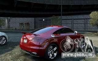 Audi TT RS 2010 pour GTA 4 Vue arrière