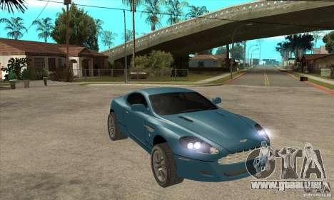 Aston Martin DB9 de NFS MW pour GTA San Andreas vue arrière