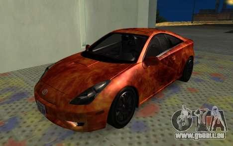 Toyota Celica 2JZ-GTE für GTA San Andreas Seitenansicht