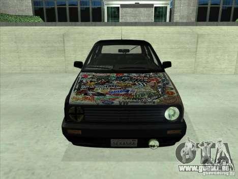 Volkswagen Golf 2 Rat Style pour GTA San Andreas sur la vue arrière gauche