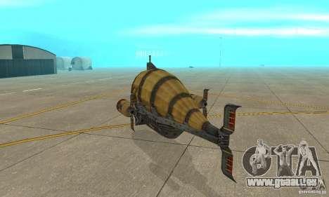 Dirigeable de TimeShift pour GTA San Andreas vue de droite