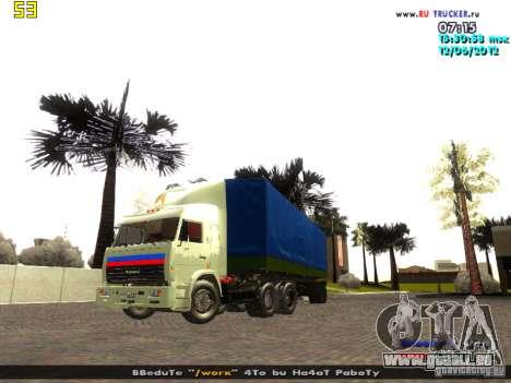 Nefaz 93344 pour GTA San Andreas vue de droite