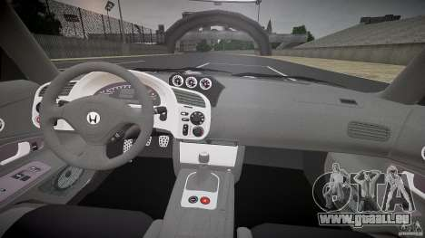 Honda S2000 Tuning 2002 peau 3 de recuit pour GTA 4 Vue arrière
