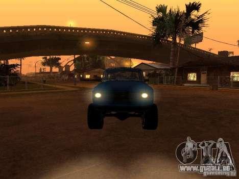 Moskvich 412-4 x 4 für GTA San Andreas Unteransicht