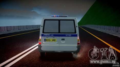 Ford Transit Polish Police [ELS] pour GTA 4 Salon