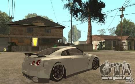 Nissan GTR SpecV 2010 für GTA San Andreas rechten Ansicht