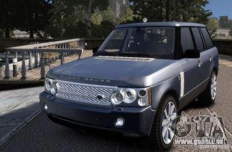 Range Rover Supercharged für GTA 4 hinten links Ansicht