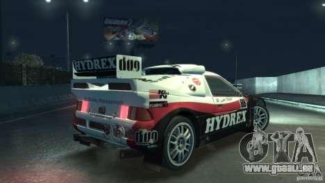 Ford RS200 Evolution Rallycross für GTA 4 Rückansicht