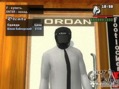 Black Helmet pour GTA San Andreas