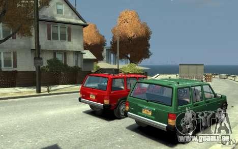Jeep Cherokee 1984 pour GTA 4 est un droit