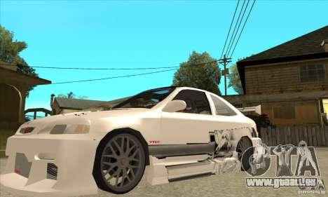 Honda Civic Tuning Tunable pour GTA San Andreas salon